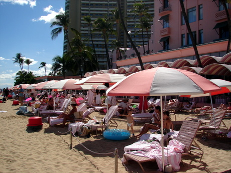 Royal Hawaiian Beach umbrellas